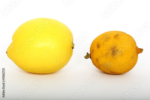 Fresh and stale lemon