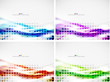 Set of abstract modern design templates