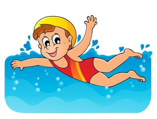 Swimming theme image 1