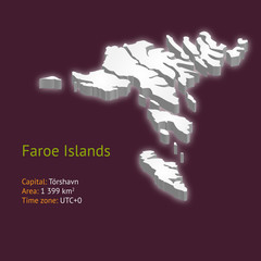 3d map of the Faroe Islands