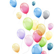 canvas print picture - Vector Illustration of  Colorful Flying Balloons