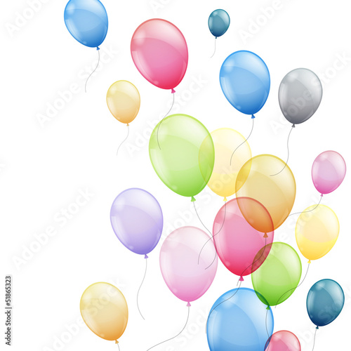 Vector Illustration of  Colorful Flying Balloons