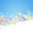 canvas print picture - Vector Background with Colorful Balloons
