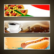 Vector Illustration of Food and Coffee Template Banner