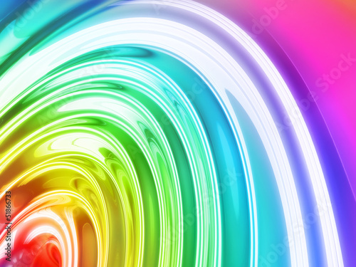 Abstract background drop splash - Rainbow