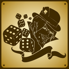 joker and dices