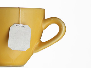 Taza de té caliente.