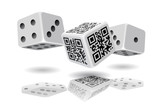 Casino cubes and QR-code cube.