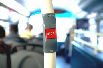 Stop button in a bus
