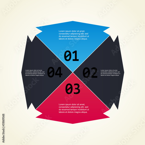 Numbering colors background