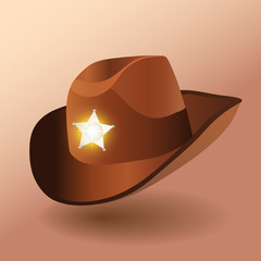 Sheriff's leather hat