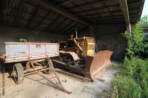 old farm working machine