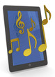 TABLET AND MUSIC - 3D