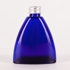 Little blue bottle isolated