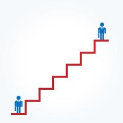 会社員 階段 上がる