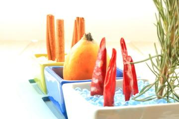 Chili pepper and medlar