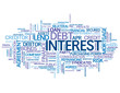 """INTEREST"" Tag Cloud (rate credit loan money finance bank debt)"