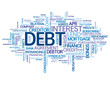 """DEBT"" Tag Cloud (money credit bank mortgage interest rate)"