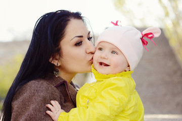 loving mother with baby