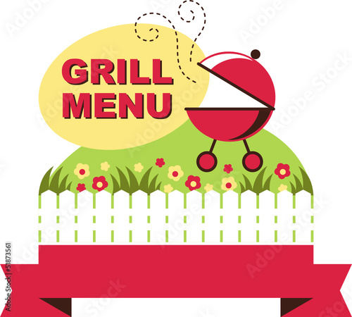 barbecue grill vintage for summer holidays
