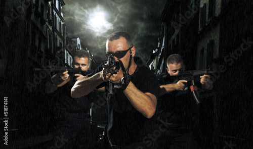 special tactics team in the streets
