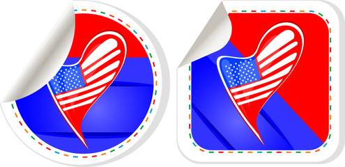 USA national and patriotic concepts for badge, sticker etc.