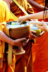 Young monk being ordinated
