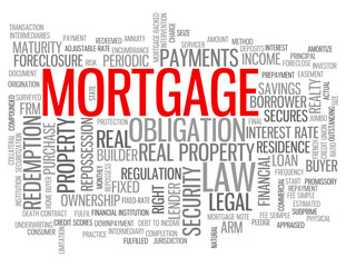 """MORTGAGE"" Tag Cloud (money credit bank debt interest rate)"