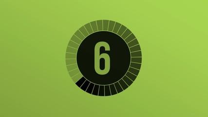 Compte à rebours 10-0 vert/noir