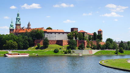 Wawel Castle. Krakow, Poland