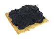 Cracker topped with caviar