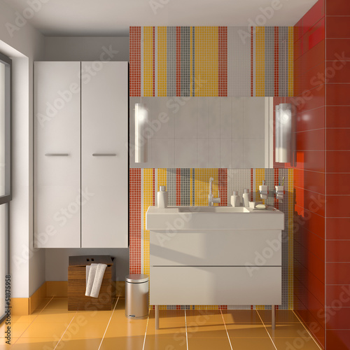 poster salle de bain color e fototapeten aufkleber poster leinwandbilder. Black Bedroom Furniture Sets. Home Design Ideas