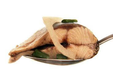 slice of herring.