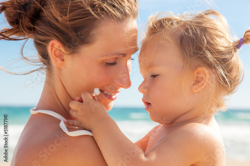 canvas print picture family beach