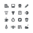 Home office icon set