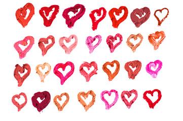 Lipstick hearts