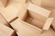 Cardboard boxes background - 51878308