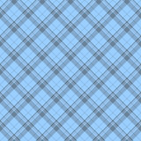 Blue Plaid Fabric Background