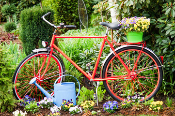 Fahrrad, Gartendeko