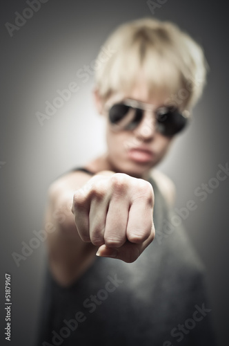 Beautiful Young Caucasian Woman Wearing Aviator Sunglasses And P