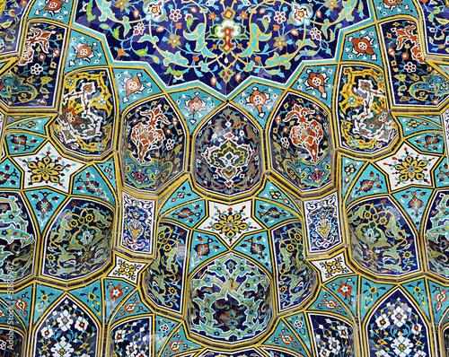 Mosque entrance portal, closeup view