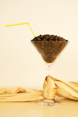 Coffee beans cocktail