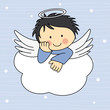 Angel wings on a cloud