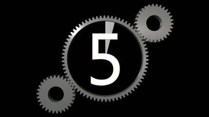 countdown withe cogwheel