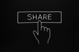 Hand Clicking Share Button