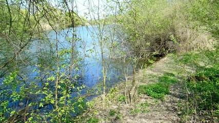 Wildnis mit idyllischem See im Rheinland