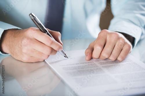 Leinwanddruck Bild Business contract