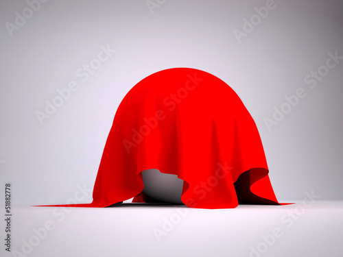 Ball covered with red cloth