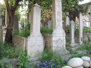 The Ottoman cemetery in Eyup, Istanbul.