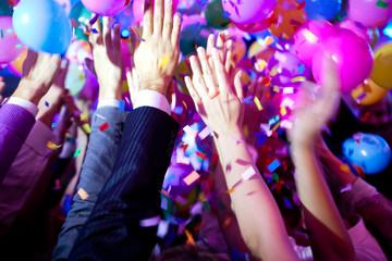 Photo of raised hands